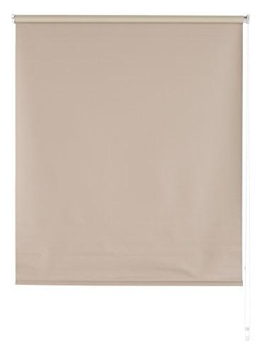 Blindecor Draco Estor Enrollable Opaco Liso, Tela, Marrón Claro, 120 x 175 cm