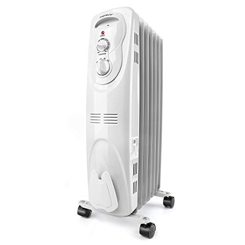 Aigostar Pangpang - 1500W Oil Filled Radiator Electric Heater 7-Fin Safe Heat 330000LCK