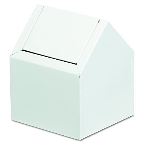 Hospeco 2201 9' Width x 10-3/4' Height x 9' Depth, White Color, C-Swing Napkin Receptacle