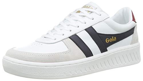 Gola Mens Grandslam Classic Sneaker, White/Navy/Deep Red, 40 EU