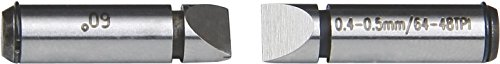 INSIZE 7381-T16 - Puntas de medición para micrometro de rosca de tornillo (4,5 a 3,5 TPI/5,5 a 7 mm)