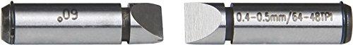 INSIZE 7381-T13 - Puntas de medición para micrometro de rosca de tornillo, 1 mm-1,75 mm/24 mm-14 TPI