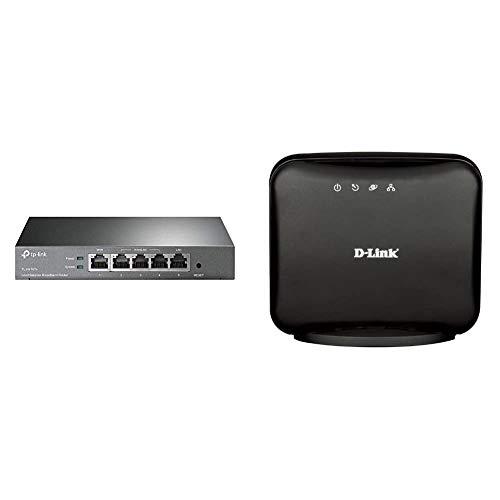 TP Link TL R470T v60 Load Balance Broadband Router WANLAN Port 64MB DRAM 4MB Flash Speicher D Link DSL 321BEU ADSL2 Ethernet Modem AnnexB