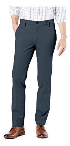 Dockers Men's Slim Fit Workday Khaki Smart 360 Flex Pants, Cool Slate, 36W x 32L