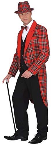 Homme Rouge Tartan écossais Manteau Burns Nuit Hogmanay Nouvel an de Noël Déguisement Queue-de-Pie