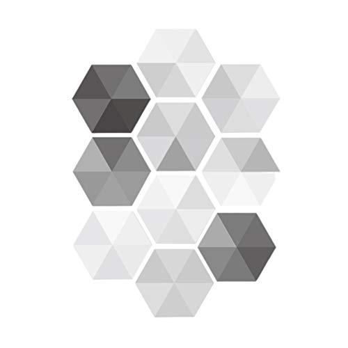 IMIKEYA 10 Piezas Impermeable Pared Azulejo Escalera Pegatinas Calcomanías Baño Piso Baldosas Cerámica para El Hogar Piso Escalera Azulejo Pared Arte Decoración (Blanco Gris)