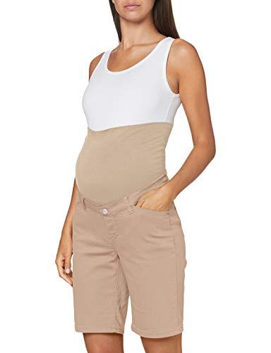 ESPRIT Maternity Damen Shorts OTB Umstandsshorts, Beige (Beige 270), (Herstellergröße: 40)