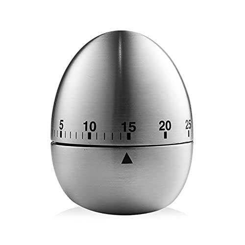SLKIJDHFB Timer Da Cucina Manuale In Acciaio Inox Meccanico Rotante Allarme 60 Minuti Conto Alla Giù Regalo Timer Per La Cottura