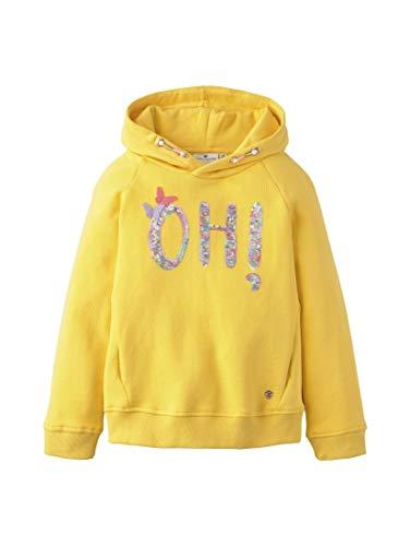 TOM TAILOR Kids Mädchen Placed Print Sweatshirt, Gelb (Daffodil Yellow 4130), (Herstellergröße: 92/98)