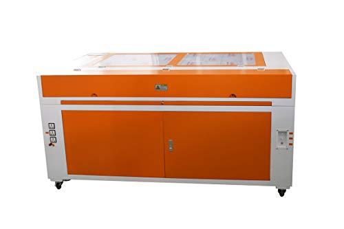Laser Graviermaschine mit 80mm Router Drehachsen 130W Graviermaschine Co2 Laserengraver 1400 x 900mm Handwerk Schneiden mit CW-3000AG Wasserkühler (130W + Rotary Achsen + Wasserkühler)