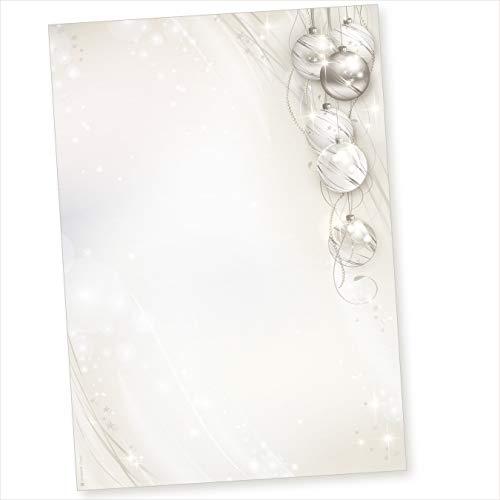 TATMOTIVE 01-0136-0090-00050 ELEGANCE 50 Blatt Weihnachtsbriefpapier geschäftlich für Firmen