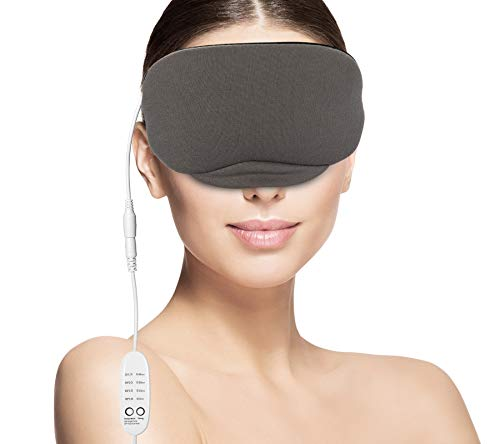 Boobeen Portable Hot USB Heated Steam Eye Mask - for Puffy Eyes, Warm Therapeutic Treatment for Dry Eye, Chalazion, Blepharitis and Eye Bag with Time and Temperature Control