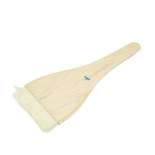 DealMux mango de madera de la fibra sintética parrilla de la barbacoa del cepillo de 4 pulgadas de ancho Beige