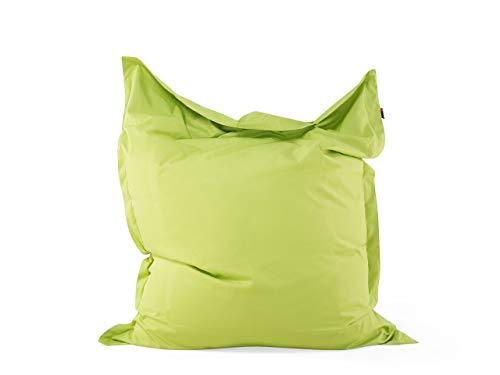 Beliani Lustiges Sitzkissen 140x18 cm grün Sitzsack