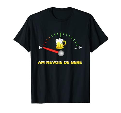 Ich brauche Bier AM NEVOIE DE BERE rumänisch Feierabend T-Shirt