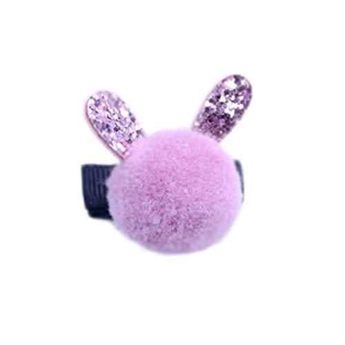 Utini Simple Beauty Children Ball Best Original Headwear Rabbit Grateful Usable Hair Clips Gift Newest Perfect - (Color: 6Bean Paste)