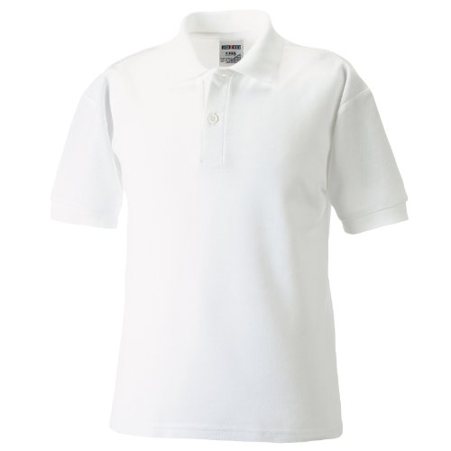 Jerzees - Polo Manica Corta - Bambino (11-12 anni) (Bianco)