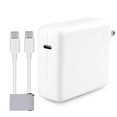 Mac Book Pro Charger,61W USB C Charger Power Adapter Compatible with MacBook Pro 13 Inch 2020 MacBook Air 13 Inch iPad Pro 2019 2018 Include Charge Cable