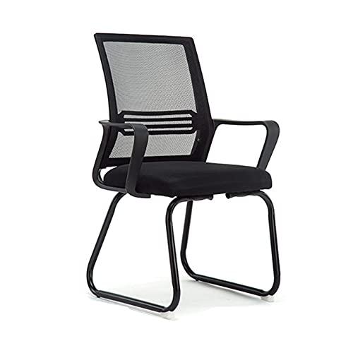 Silla de Malla, sillas ergonómicas de Escritorio para computadora, sillas de Oficina con Brazos, Silla de Trabajo, para Uso en el hogar y la Oficina, para Adultos, Negro