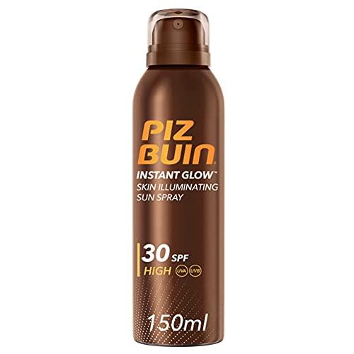 Piz Buin, Instant Glow Protector Solar en Spray SPF 30, Protección Alta, 150 ml