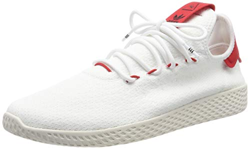 adidas Men's Pw Tennis Hu Gymnastics Shoes, White (FTWR White/Scarlet/Chalk White FTWR White/Scarlet/Chalk White), 11.5 UK