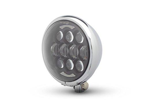 LED Moto Phare - Projecteur - pour Projet Personnalisé Rétro Motos - Chrome