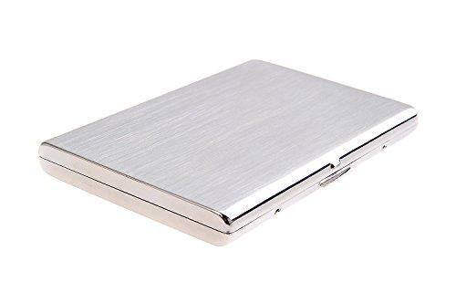 Quantum Abacus Zigarettenetui aus Edelstahl, modern elegant, für 9 Slim-Zigaretten, Mod. KC5-01 (DE)