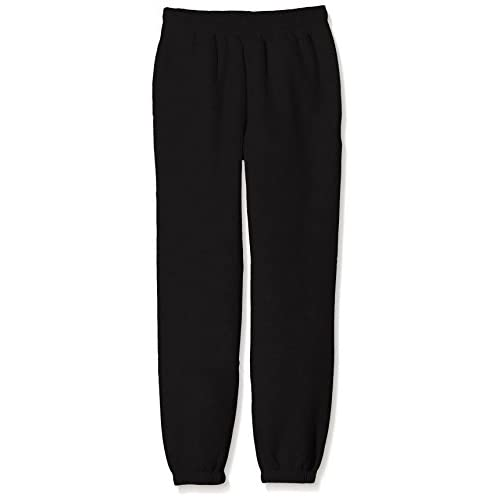 Fruit of the Loom SS114B-Pantaloni sportivi Bambino, Black, X-Small