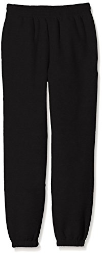 Fruit of the Loom SS114B, Pantaloni Sportivi Bambino, Black, X-Large