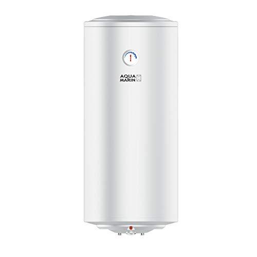 Aquamarin® Elektro Warmwasserspeicher - 30/50/80/100L, 1,5 kW, Wandhängend, Anticalc, EEK B/C, emaillierter Innenbehälter - Warmwasserboiler, Elektrospeicher, Boiler, Heizung, Speicher (100 L)