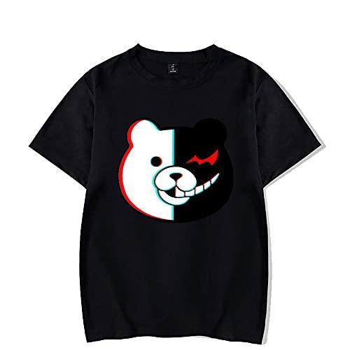 Camiseta Danganronpa-Personajes completos- Monokuma, Nagito Komaeda, Junko Enoshima, Kokichi Ouma Printed T-Shirt-Danganronpa Anime Game Camisetas de Manga Corta para Hombres, Mujeres, jóvenes