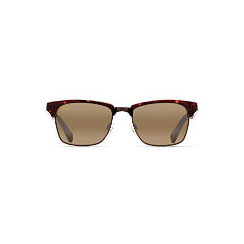 Maui Jim unisex adult Kawika Sunglasses, Tortoise With Antique Gold/Hcl Bronze Polarized, Medium US