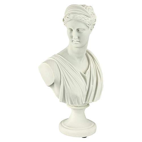 WJGJ Accueil Bureau Statues Décorations Apollo Buste Statue, 30 cm, Bonded marbre Polyresin, Blanc, Diana de Versailles, 18 x 10 x 30,5 cm (Couleur : Diana of Versailles, Size : 18 x 10 x 30.5 cm)
