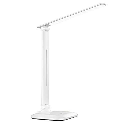 Lampe de table moderne à LED, lumières de bureau créatives de protection des yeux de personnalité pour la lecture de bureau de bureau de table de chevet de chambre à coucher, interrupteur tactile