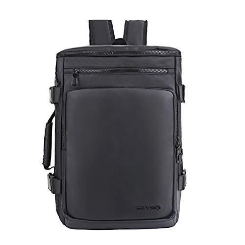 Eshow Laptop Rucksack 17 Zoll Schulrucksack jungen teenager Business rucksack Daypack Umhängetasche herren groß wasserdicht 2 in 1 schwarz