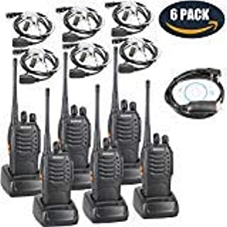 featured product BaoFeng BF-888S Two Way Radio with Built in LED Flashlight (Pack of 6) +Covert Air Acoustic Tube Headset Earpiece