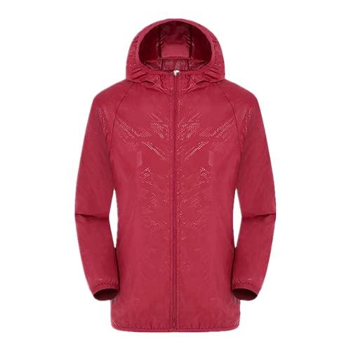 Pantalones deportivos al aire libre a prueba de abrigo cortavientos Gramos impermeables y de secado rápido, rosso, S