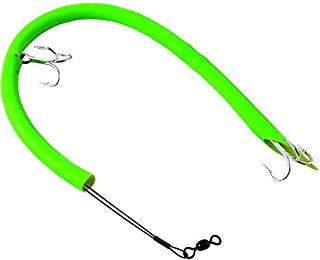 Sea Striker CT14G Cuda Tube Rig Deluxe, 2-Hooks, 1-Pack, Flourescent Green