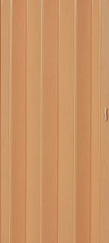 Falttür Schiebetür Tür buche farben Höhe 202 cm Einbaubreite bis 96 cm Doppelwandprofil Neu TOP-Qualität p043-96