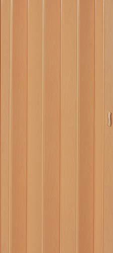 Falttür Schiebetür Tür buche farben Höhe 202 cm Einbaubreite bis 84 cm Doppelwandprofil Neu TOP-Qualität pi-043