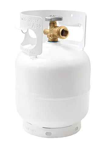 Flame King YSN5LB 5 Pound Propane Tank Cylinder, Great for Portable Grills, Fire Pits, Heaters and Overlanding, White 3