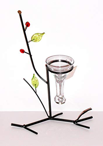 Holzdrehteile Kerzenständer Kerzenhalter Teelichtständer Teelichthalter Deko anthrazit Metall Glas