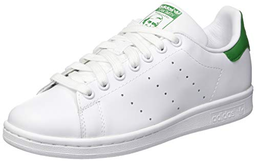 adidas adidas Unisex-Erwachsene Stan Smith Sneakers, Weiß (Footwear White/footwear White/green), 41 EU