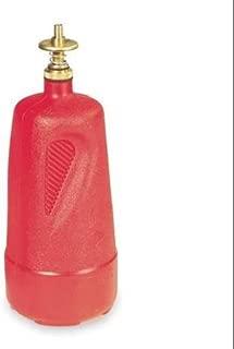 JUSTRITE 14010 Dispensing Bottle, 1 Qt., Red, Polyethylene