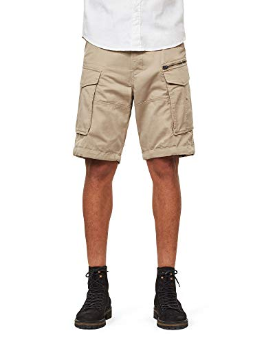 G-STAR RAW Herren Rovic Zip Relaxed 1/2-Length Shorts, Schwarz (Dune 239), 36W