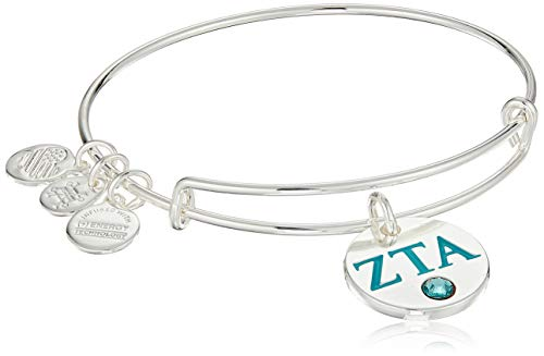Alex and Ani Women's Color Infusion Zeta Tau Alpha II EWB Bracelet, Shiny Silver, Expandable