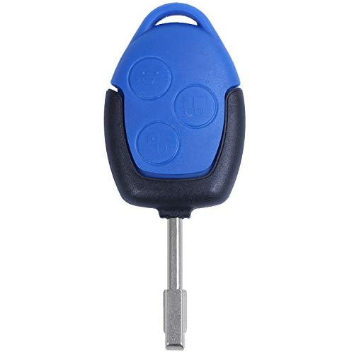 Fransande - Funda con 3 botones para llave de cuerpo y llave para tránsito, color azul
