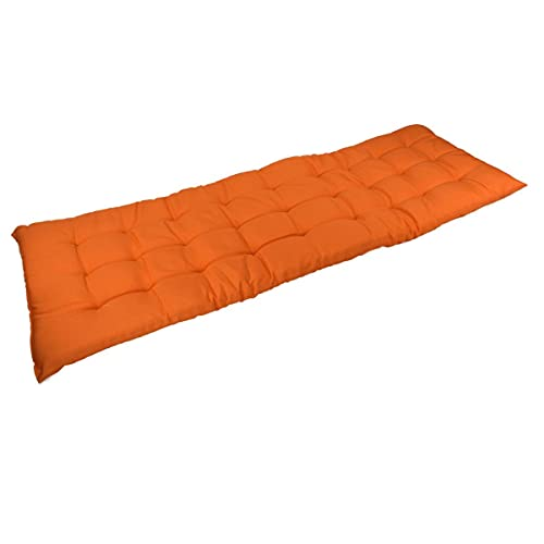 Marabella Auflage für Gartenbank 120x40x4cm Sitzauflage Polsterauflage Bankauflage, Farbe:orange