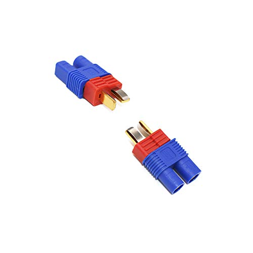 Elitee EC3 Female to T Plug Deans Male Connector Adapter No Wires RC LiPo Battery Charger Connector 5 PCS