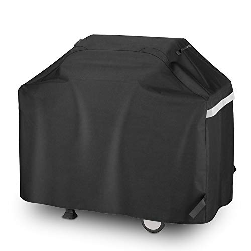 Hisencn BBQ Grill Cover 55 Inch Heavy Duty Waterproof Barbecue Gas Grill Cover for 3 to 4 Burner Cover for Weber, Charbroil, Nexgrill, Brinkmann, Char Broil, Dyna-Glo, Kenmore and More Grill